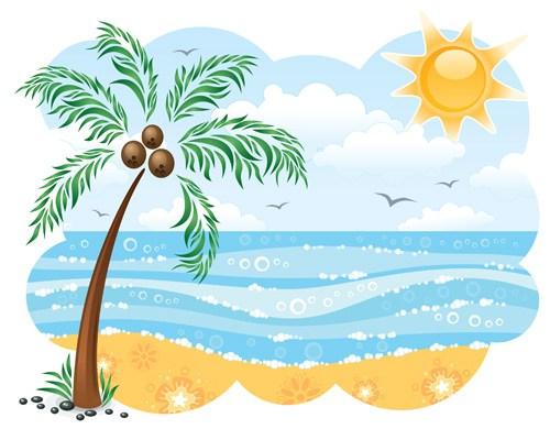 Sunny beach clipart 9 » Clipart Portal.