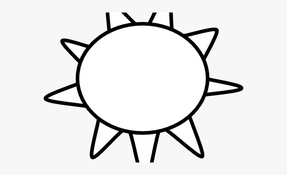 Sunshine Outline Cliparts.