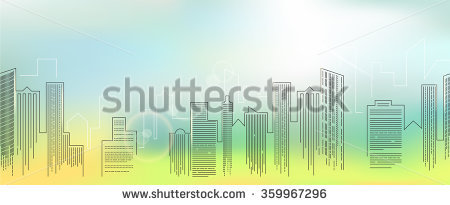 Vector Colorful City Skyline Stock Vector 108640469.