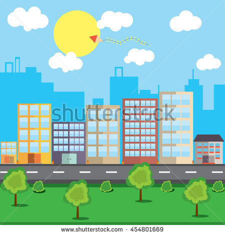 City Day Night Stock Vector 504770290.