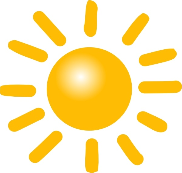 Weather Sunny clip art Free vector in Open office drawing.