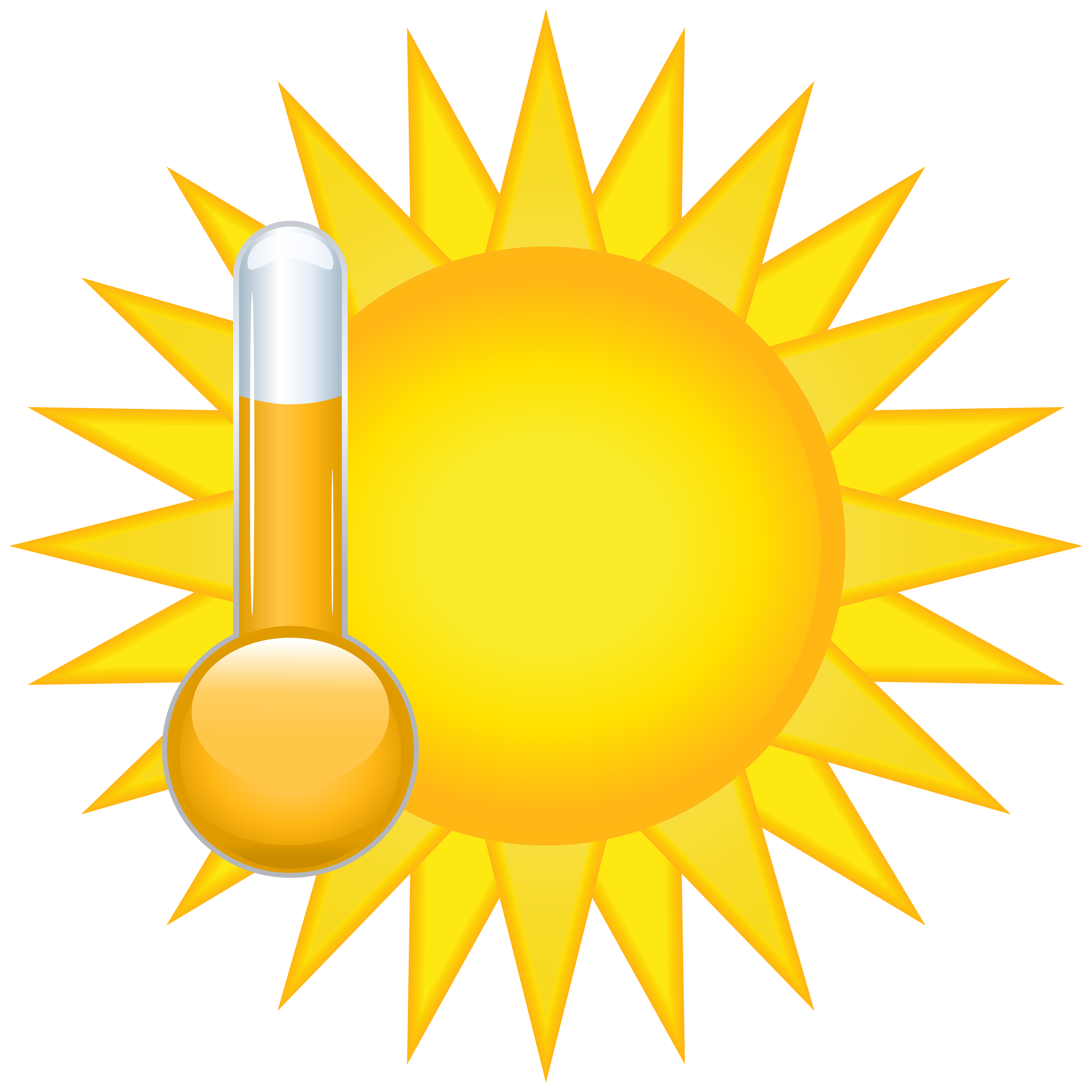 Sunny Weather Icon PNG Clip Art.