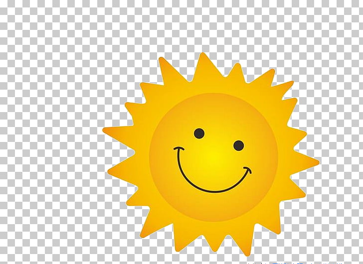Cartoon Cdr, Sunny smile, sun illustration PNG clipart.