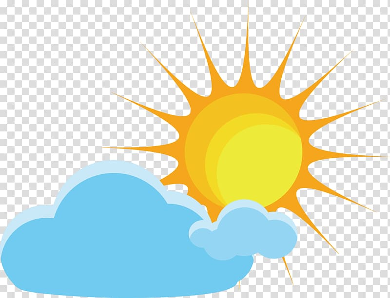 sunny transparent background PNG clipart.