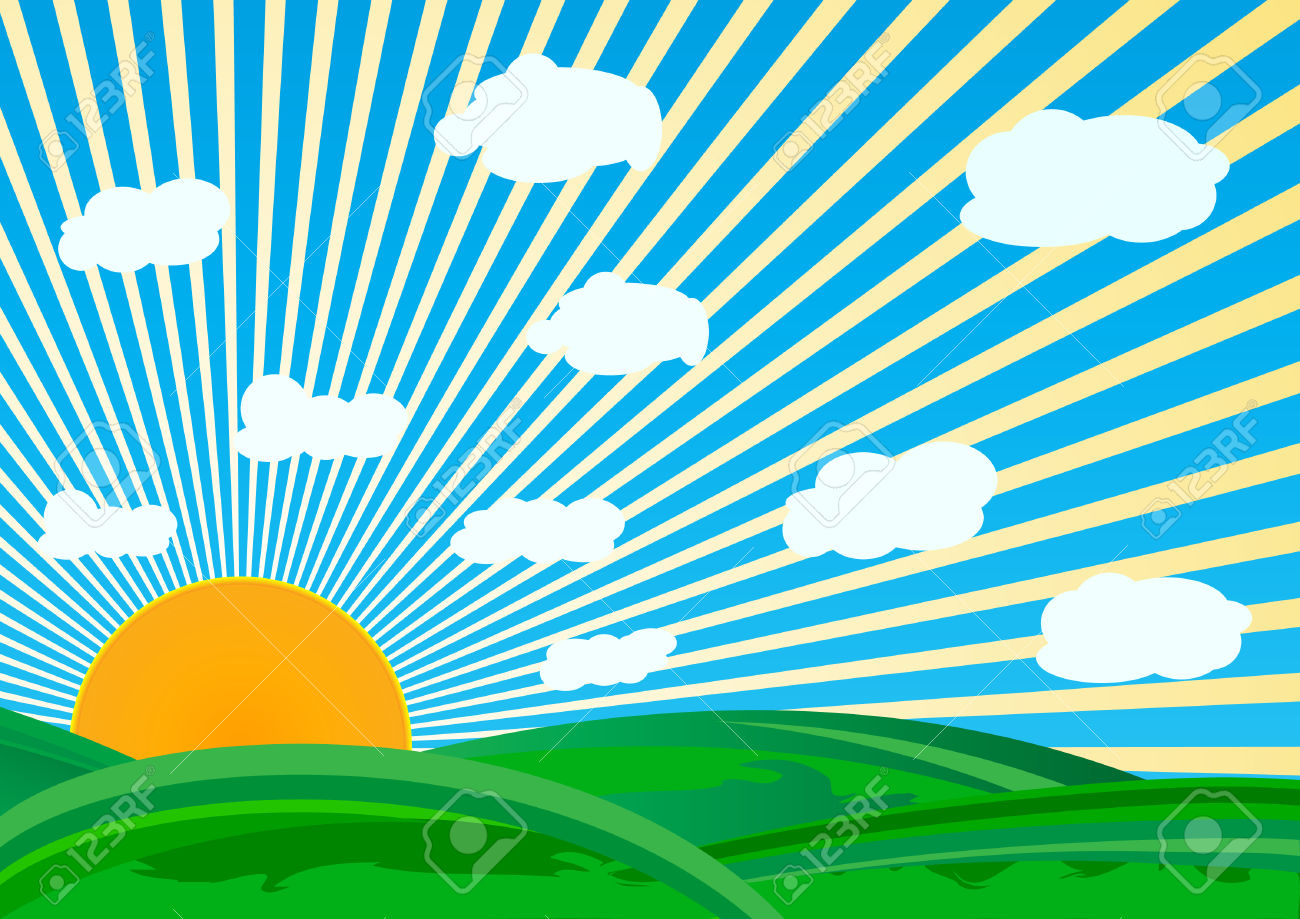 Vector Sunny Day; Clip.