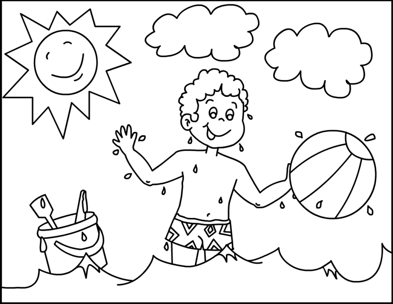 Sunny Day Clipart Black And White.