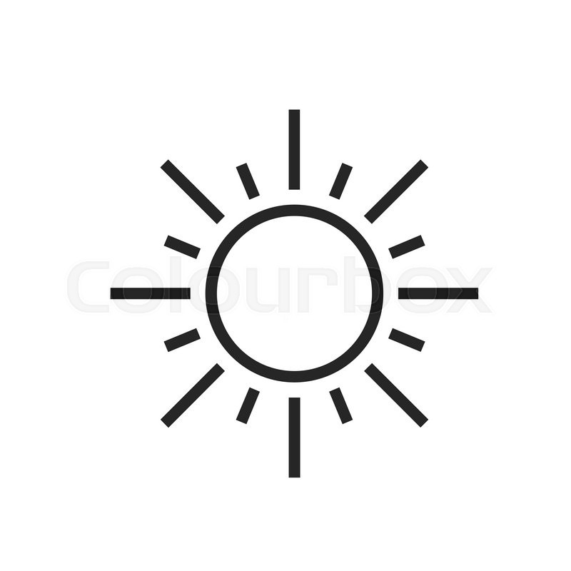 Sun. Sunny day. Weather forecast icon..