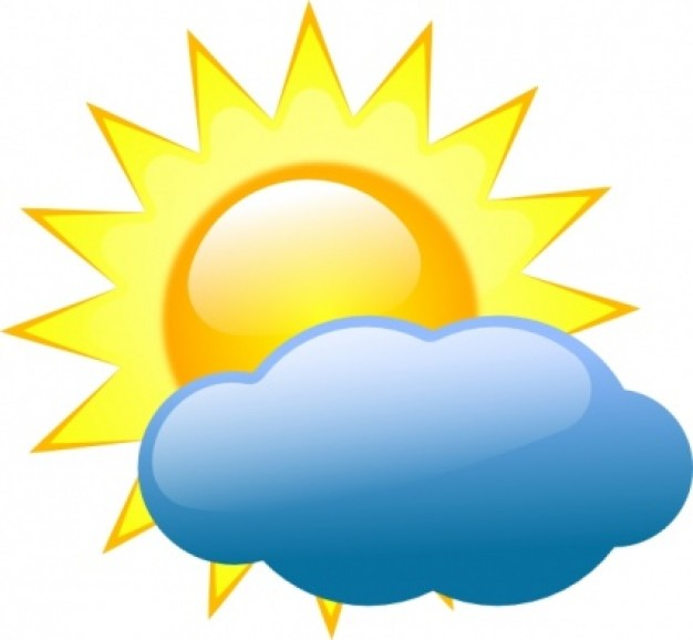 Free Weather Symbols Sun With Clouds, Download Free Clip Art.