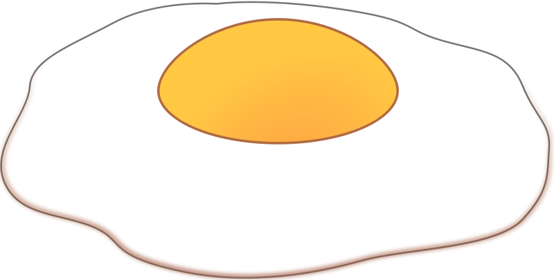 Free Clipart: Sunny side up.
