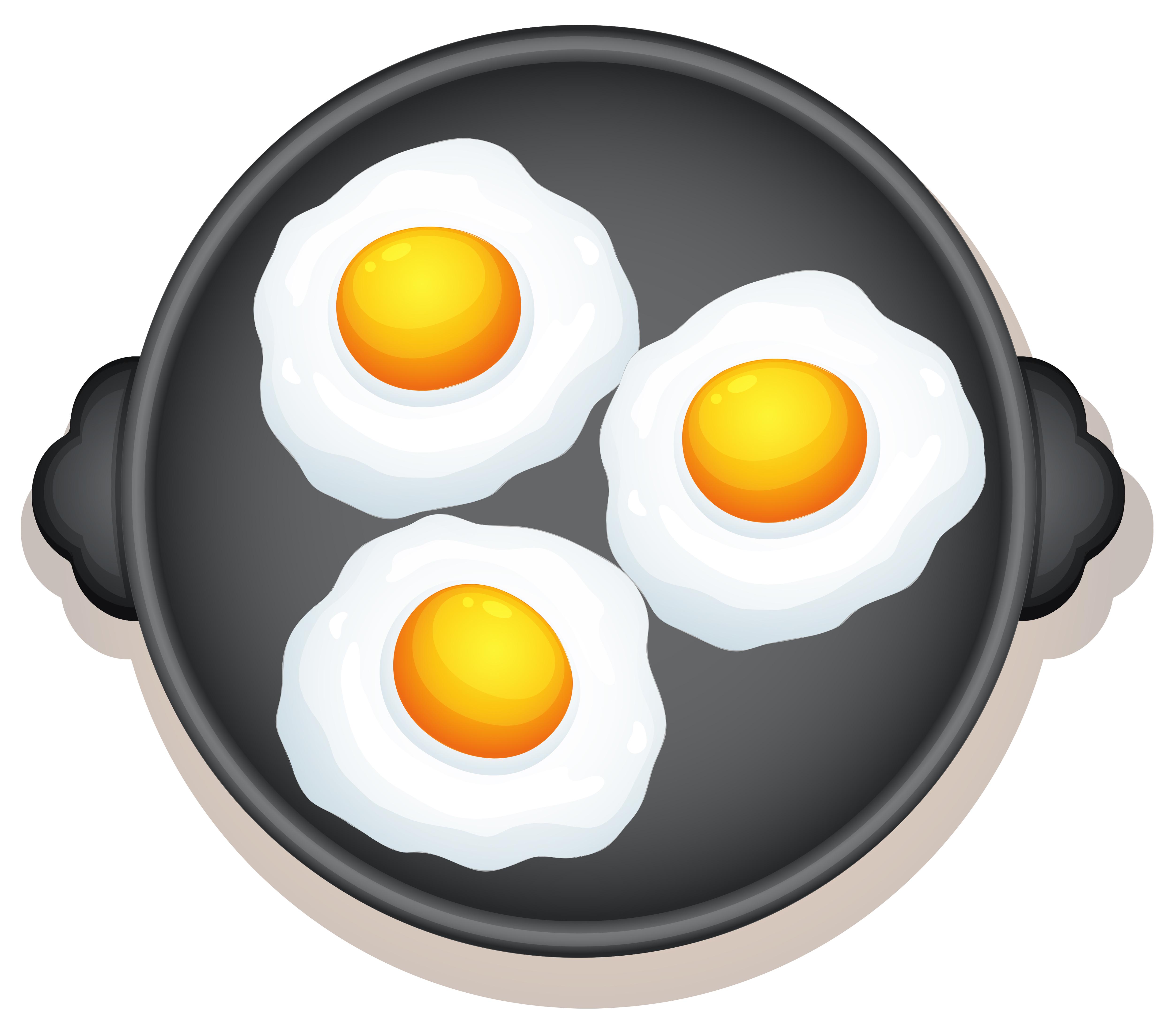 Sunny Side Up Egg Free Vector Art.