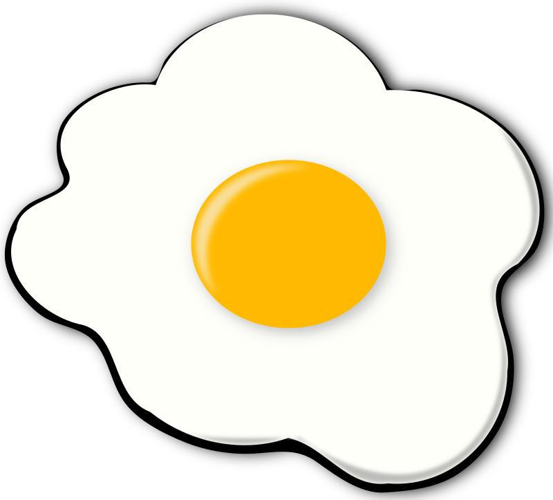 Eggs clipart sunny side up, Eggs sunny side up Transparent.