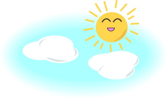 Weather sunny sky.