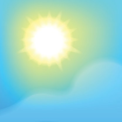 Sunny sky background Clipart Image.