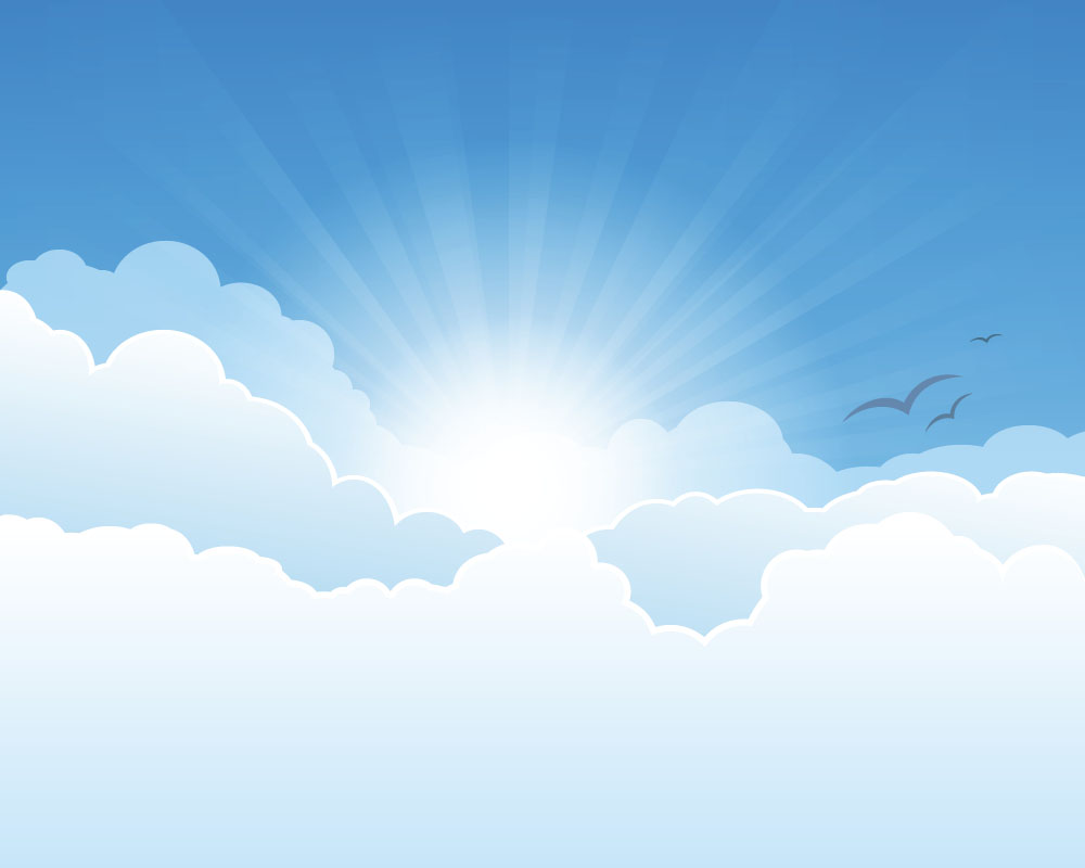 Sunny sky and white clouds vector backgrounds 02 free download.