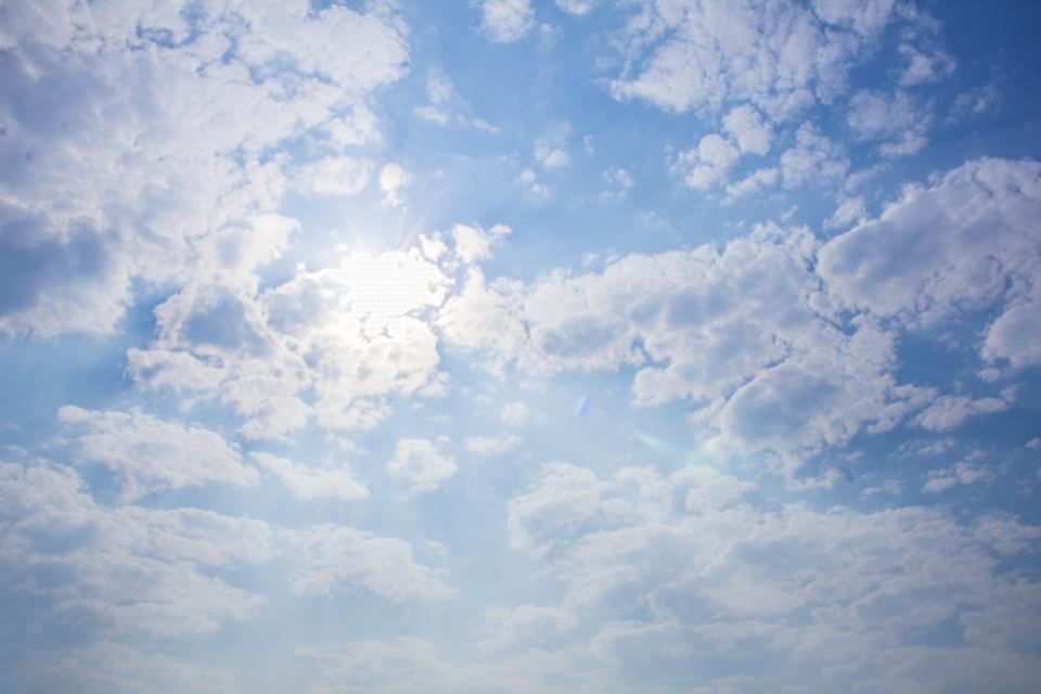 Sunny Sky Blue Sky Photo, Sunny Day, Sky, Blue Sky.