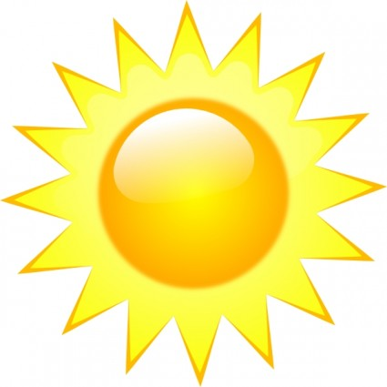 Sunny Weather Clipart.
