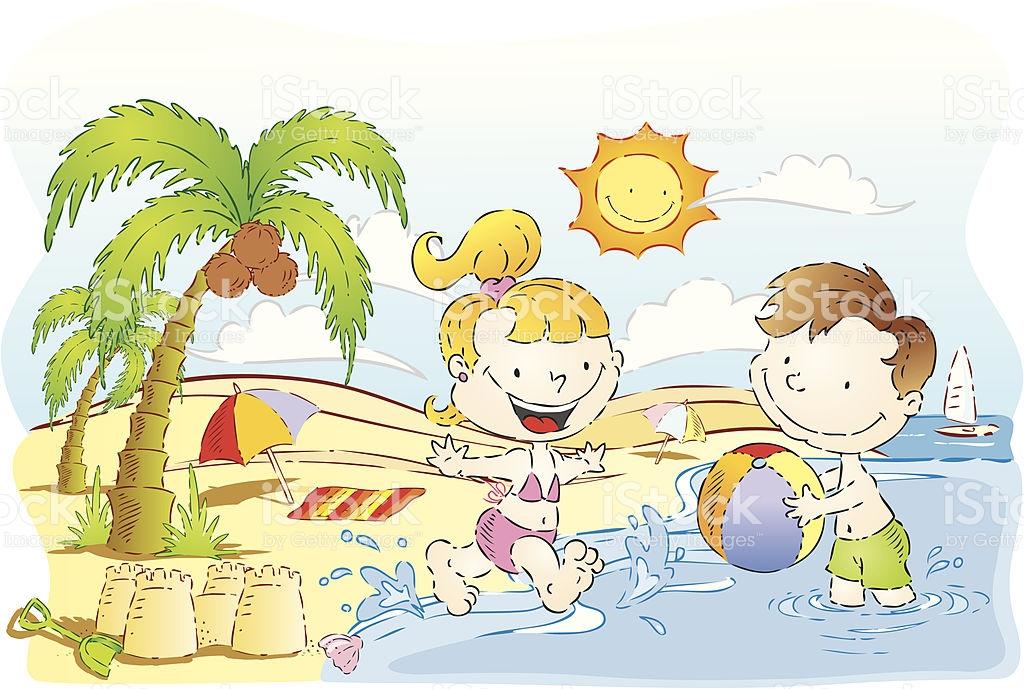 Sunny Day Beach Clipart.