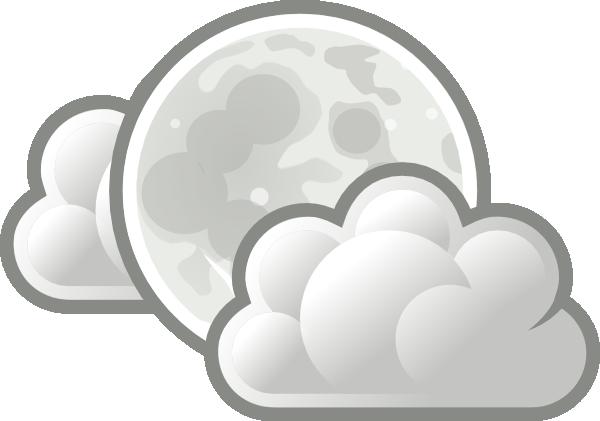 Weather Few Clouds Night Clip Art.
