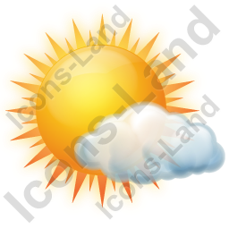 Sunny Few Clouds Icon, PNG/ICO Icons, 256x256, 128x128.