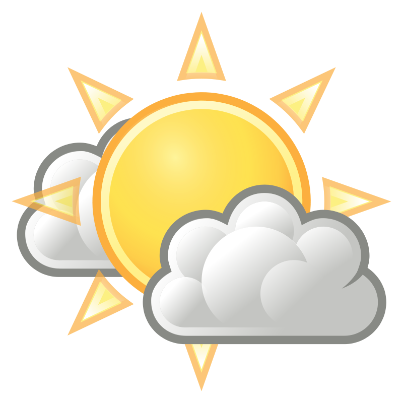 Free Clipart: Tango weather few clouds.