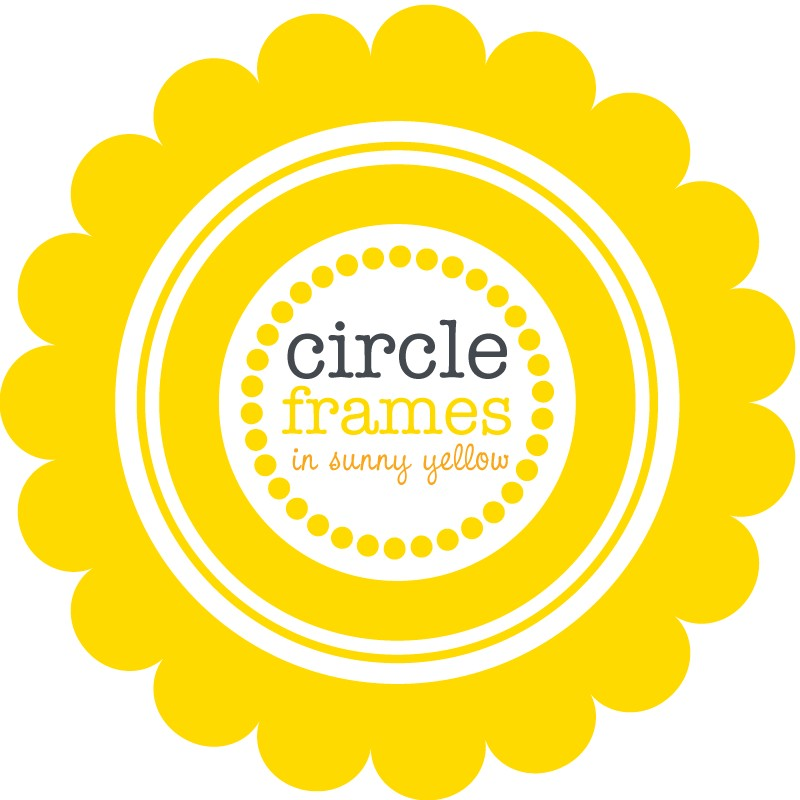 Digital Clip Art Circle Frames in Sunny Yellow by viveradesign.
