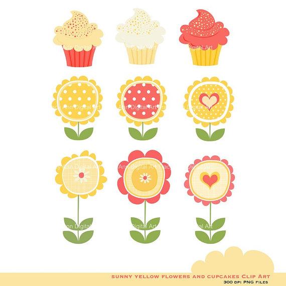 Sunny Cupcakes Clipart.