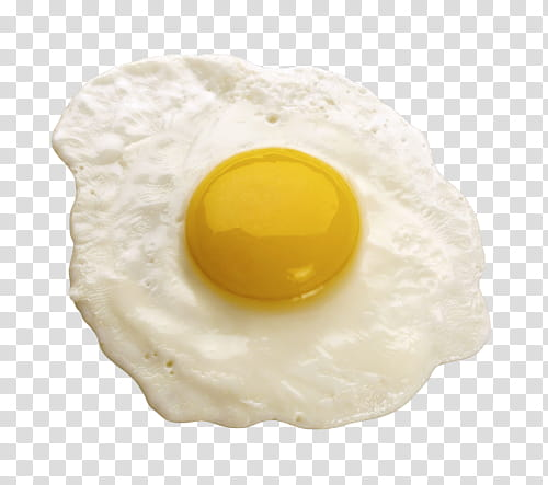 Aesthetic, sunny side up egg transparent background PNG.