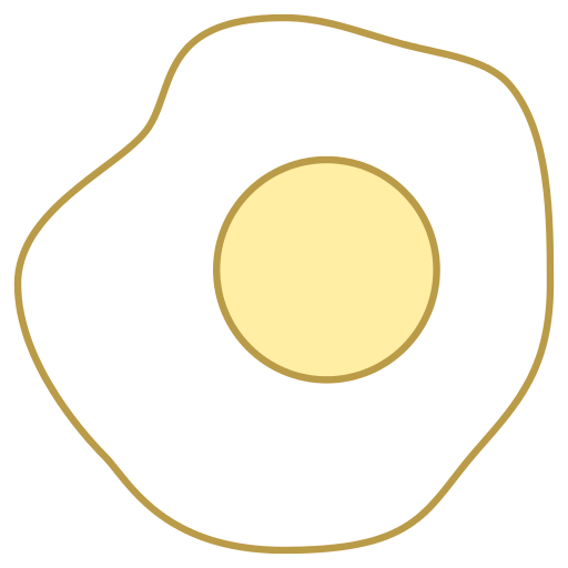 Sunny Side Up Eggs Icon.