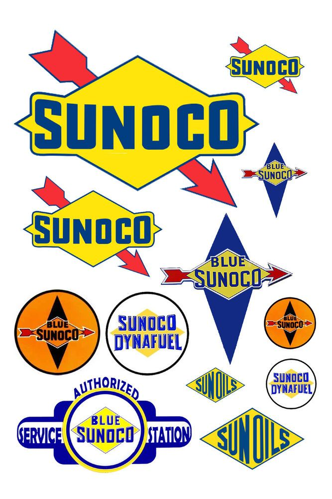 Details about 1:25 G scale model Sunoco gasoline station gas.