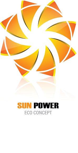 Sun Power Energy Design Concept Logo Symbol Icon Corporate.