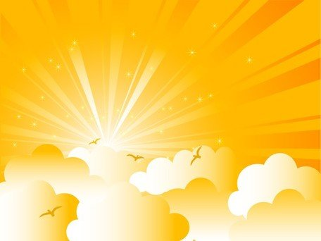 Cartoon Sunrise Background Clipart Picture Free Download.