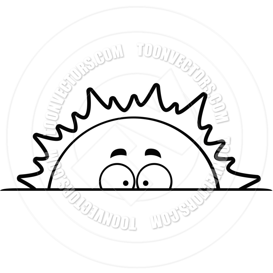 Black And White Sunrise Clipart.