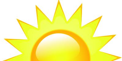 Sun rise clipart images