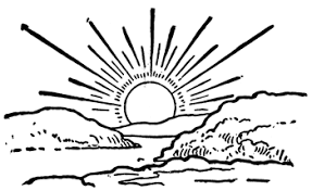 Image result for sunrise line art.