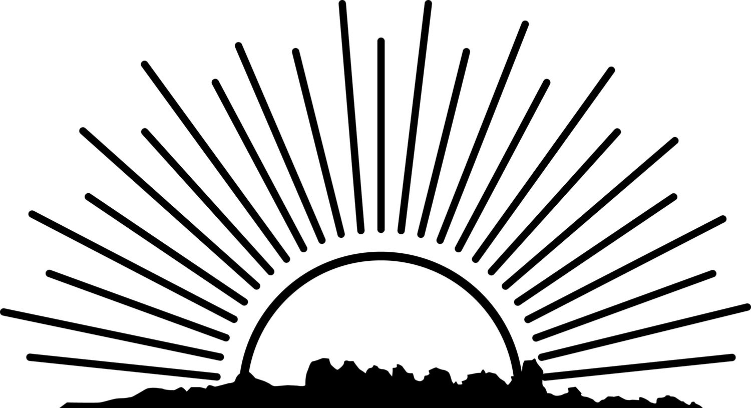 Sunrise clipart black and white 9 » Clipart Station.