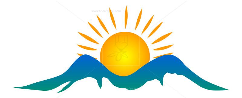 Sun Rise Illustration (Icon, Logo).