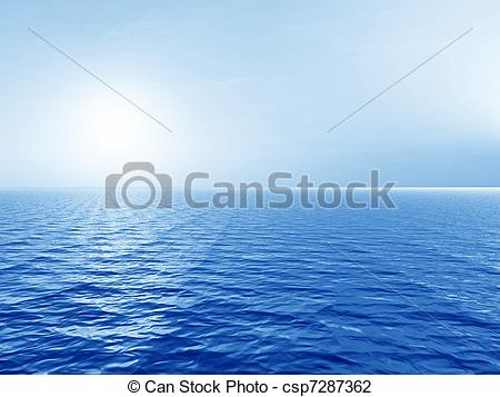 Clip Art of Early morning over the sea.