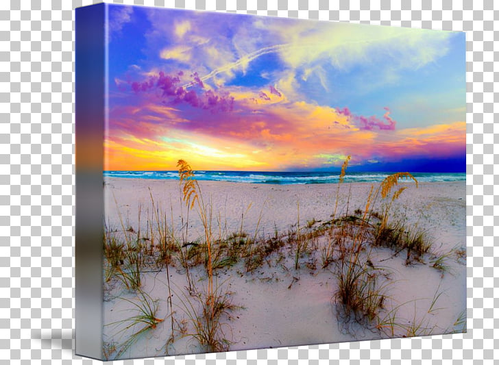 Shore Sunrise Beach Blue Sea, sunrise over sea PNG clipart.