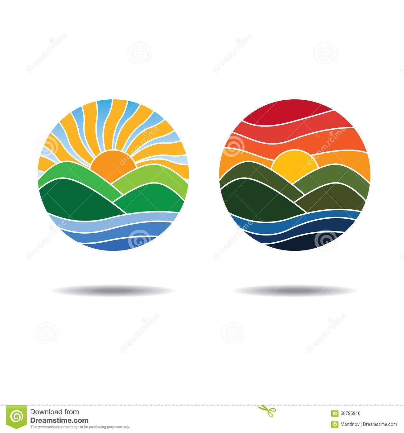 Sunrise and sunset clipart 1 » Clipart Portal.