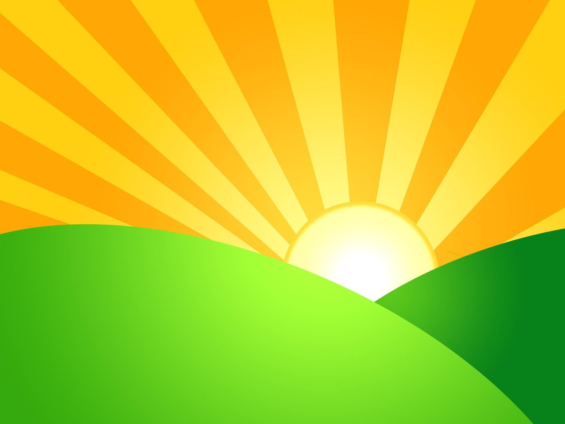 Sun Rising Clipart.