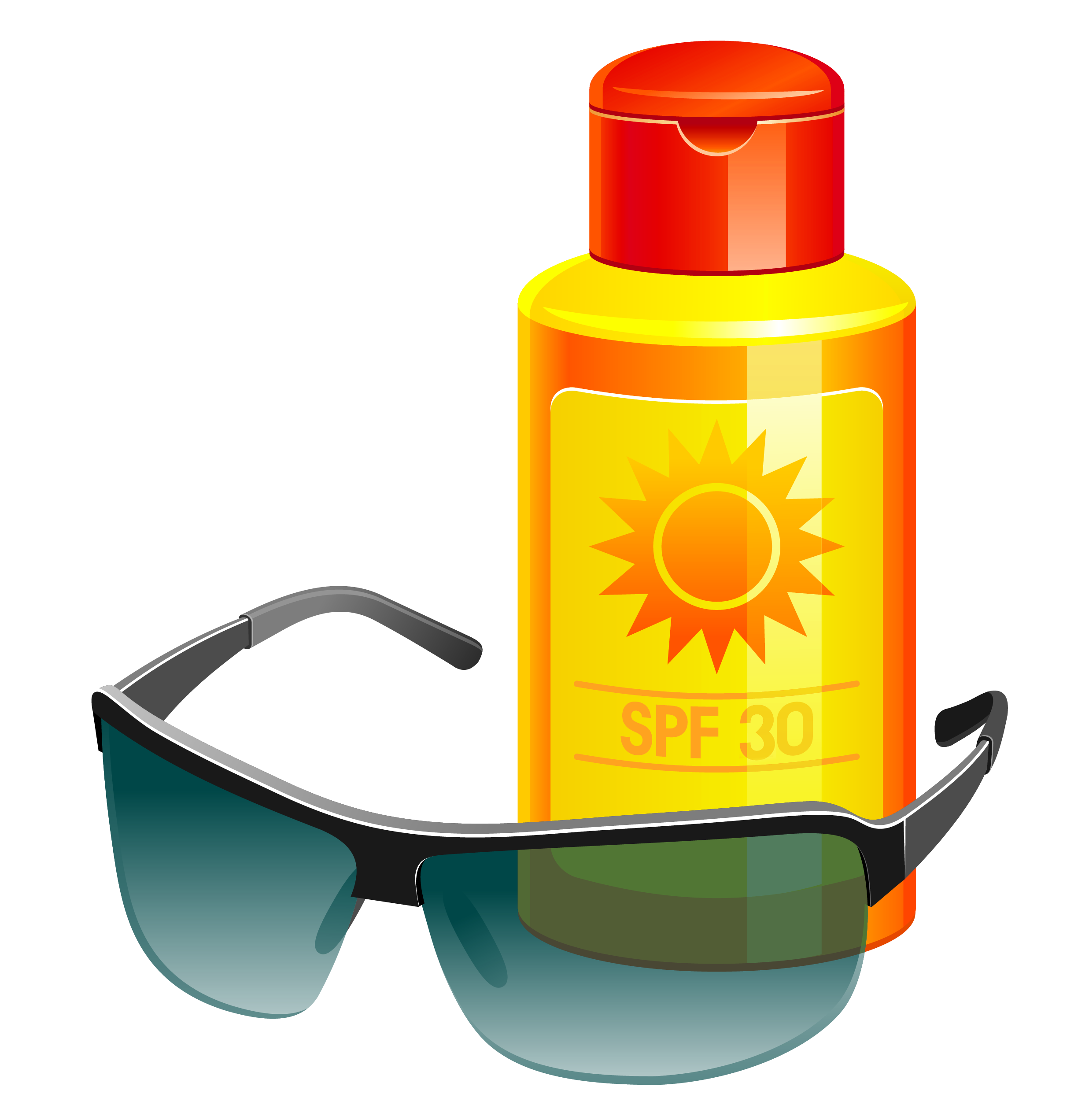 Sunscreen Clipart.