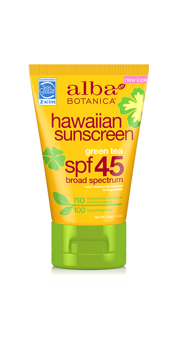 Alba Botanica Hawaiian Green Tea Sunscreen SPF 45.