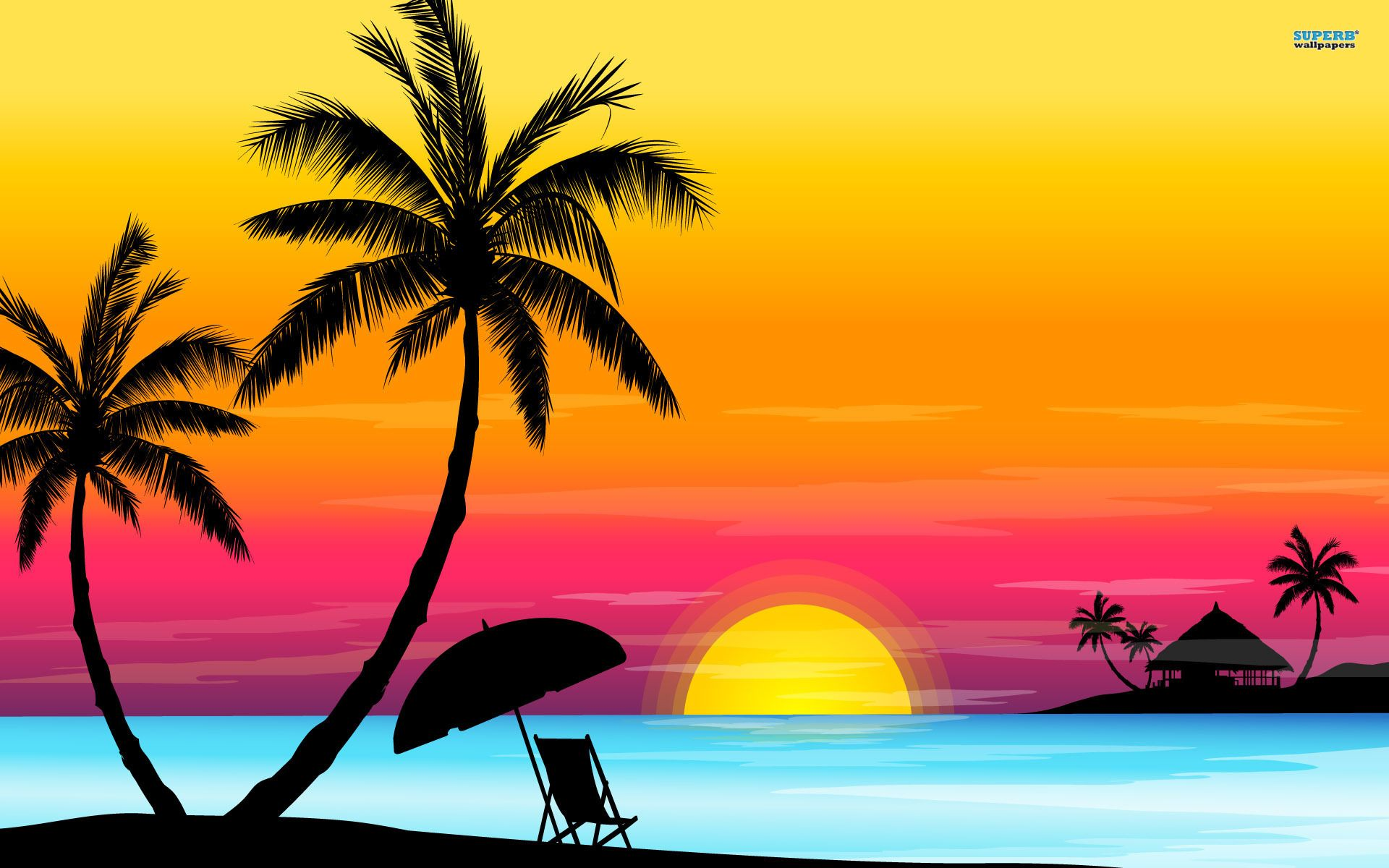 Sunset Beach Background Clipart in 2019.