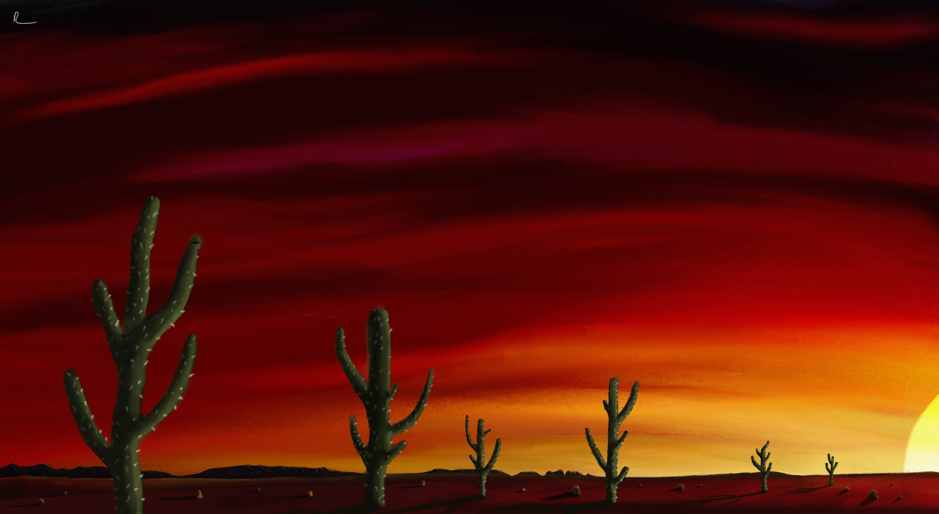 Desert Sunset by Retorman on DeviantArt.