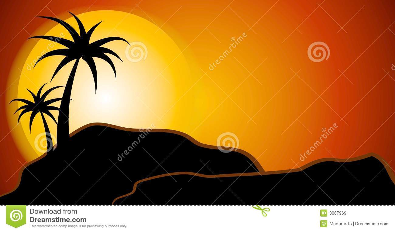 Sunset outline clipart.