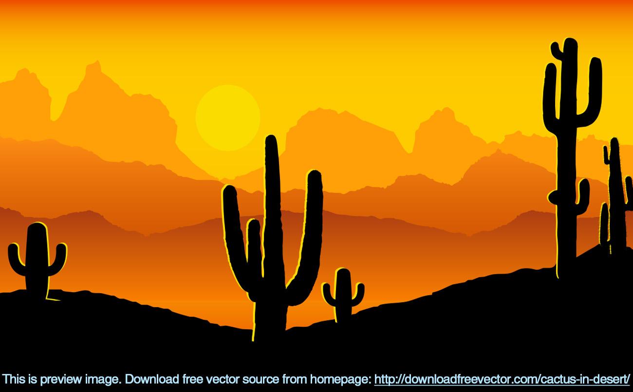 Desert sunset clipart.