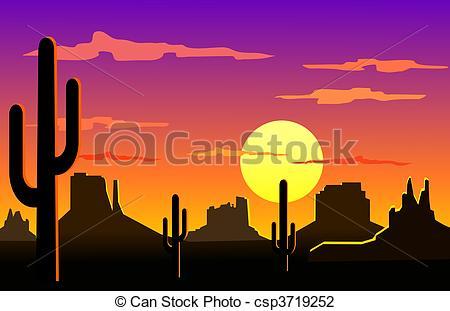 Desert Clipart Silhouette.