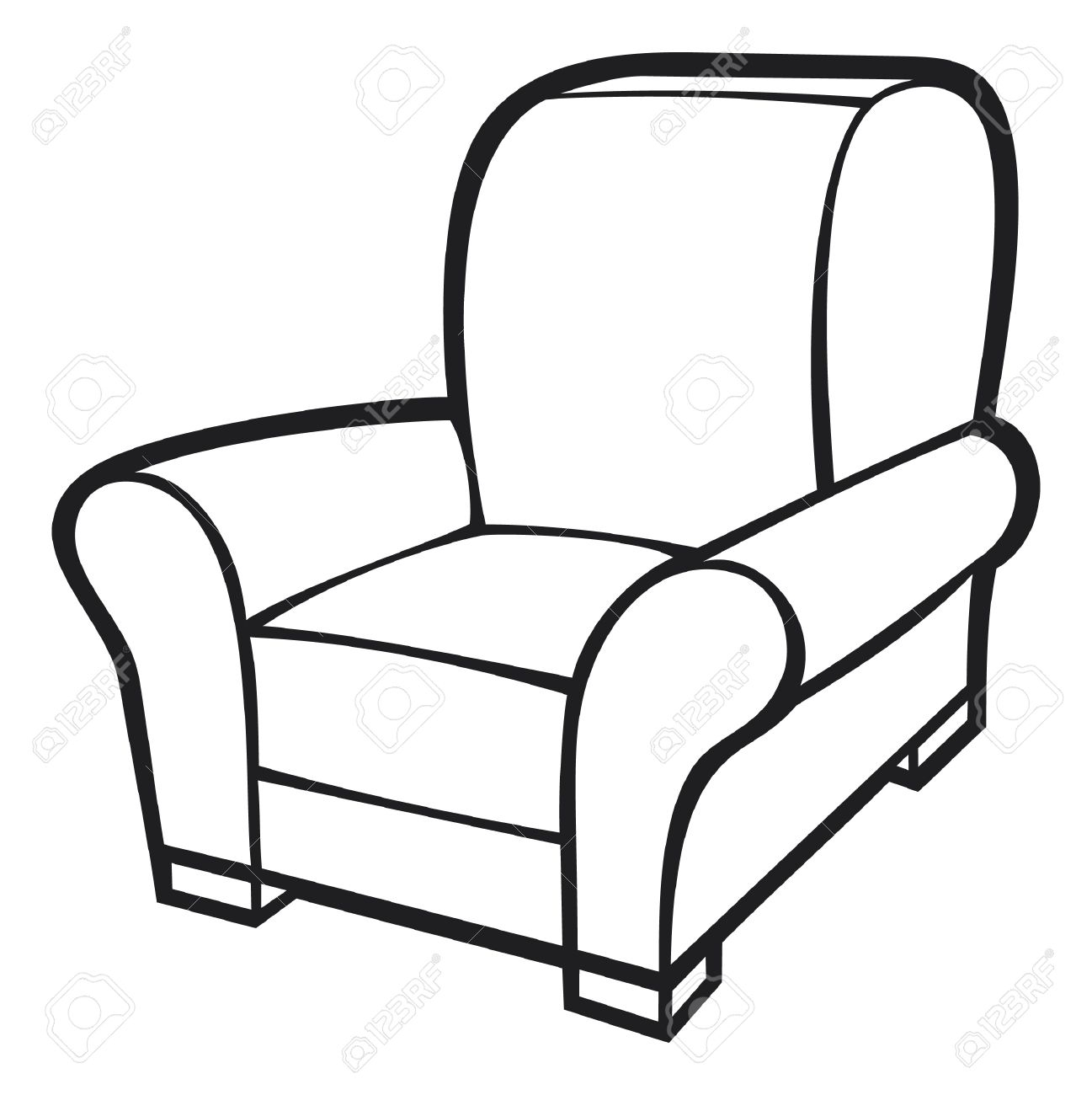 Black And White Armchair.