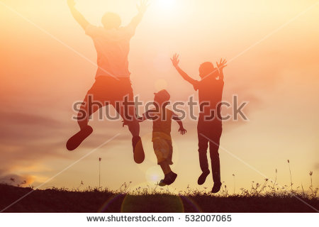 Family Fun Stock Images, Royalty.