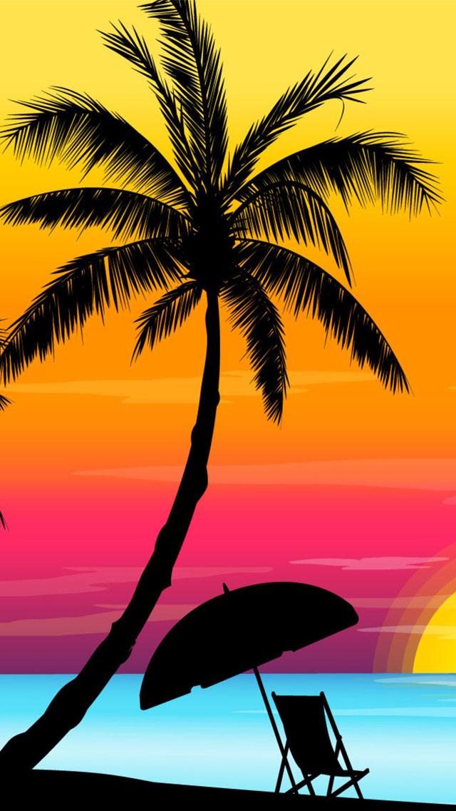 Beach Sunset Clipart.